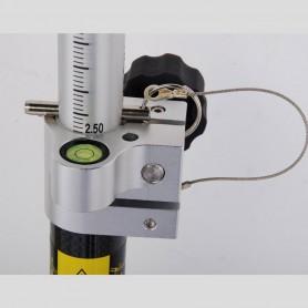 CLS25 Canne télescopique GPS fibre de carbone / alu , 2,45m